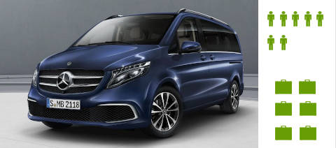 People Carriers & MPVs: Our Mercedes Benz and Volkswagen people carriers can carry up to seven people in luxury and comfort.